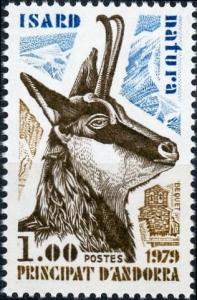 Andorra - French Admin. #267 1f Pyrenean Chamois - Nature Protection MNH