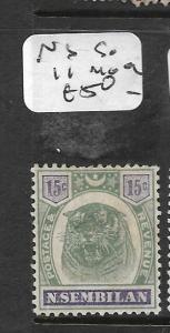 MALAYA NEGRI SEMBILAN (P1211B)  TIGER 15C  SG11  MOG