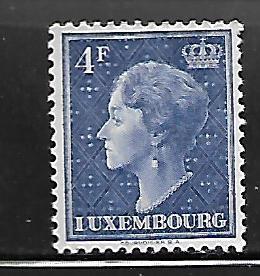 LUXEMBOURG, 258 , MINT HINGED, GRAND DUCHESS CHARLOTTE