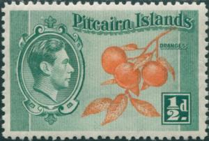 Pitcairn Islands 1940 SG1 ½d Oranges MH