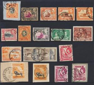 KUT BRITISH 1936+ POST MARKS GROUP (18)- ABORA, ELDORE,OLKALO, ,URUTI ETC