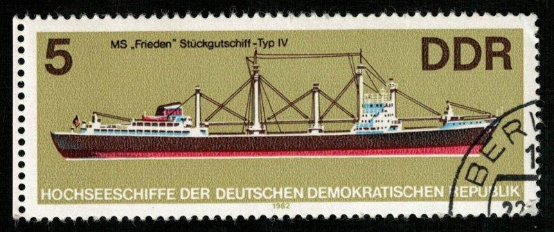DDR, 5 Pf, Ship (Т-5967)