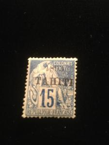Tahiti Scott #22 Mint Hinged Scarce Island For Stamps!