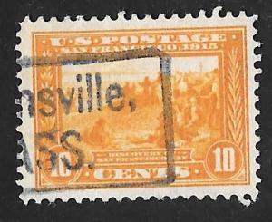 400 10 cents Super Cancel San Francisco Bay, Stamp used VF