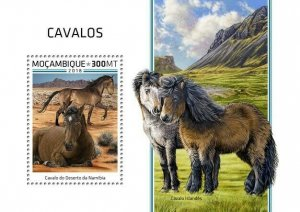 HERRICKSTAMP NEW ISSUES MOZAMBIQUE Horses S/S