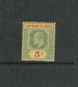 Cayman Islands 1907/9 EDV11 5/- Green & Red, Fresh LMM SG 32