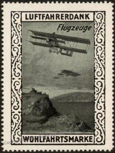 Germany WWI Biplane Air Force Memorial Luftfahrerdank Flight MNH  Cinder G102800