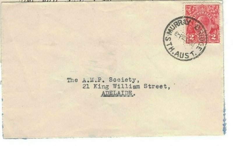APH1467) Australia 1931 2d Red KGV Die III Small Cover