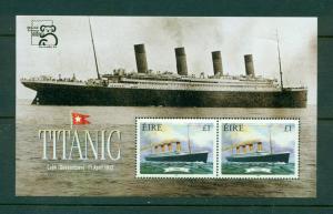 Ireland - Sc# 172b. 1999 Titanic Souv. Sheet W/ Added Inscription. MNH $10.00.