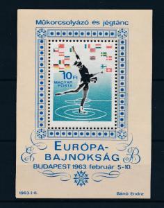 [46237] Hungary 1963 Sports Figure skating Flags MNH Sheet