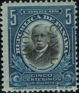 CANAL ZONE #28 1909 5c OVERPRINT ISSUE--MINT-OG/HINGED