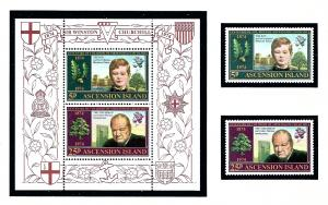 Ascension Is 181-82a MNH 1974 Winston Churchill