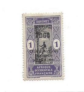 Togo, 176, Dahomey Stamps Overprinted Single, MNH