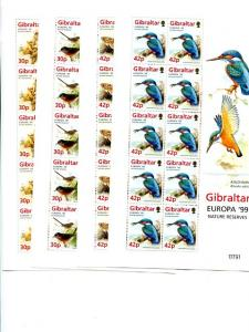 Gibraltar   Europa  1999 Mint VF NH - Lakeshore Philatelics