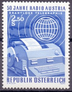 Austria. 1974. 1437. communication radio. MNH.