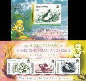 Montserrat - 2005 Hans Christian Andersen - Set of 2 Souvenir Sheets #1137-8