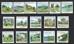 Norfolk Island    MNH SC#  401 - 416