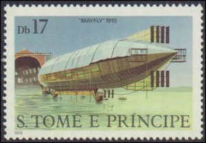St.  Thomas & Prince Islands #561-566, Complete Set(6), 1979, Zeppelin, Never...