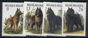 Belgium 1243-6 MNH Dogs