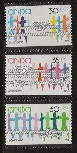 ARUBA  SC #  B1 - 3  MNH