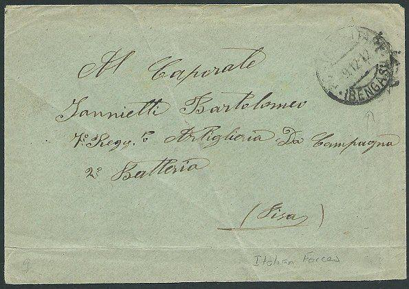 LYBIA 1912 ITALIAN FORCES cover ex BENGASI.................................42453