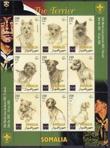Somalia 2002 DOGS TERRIERS Scout Jamboree Thailand Sheet Perforated Mint (NH)