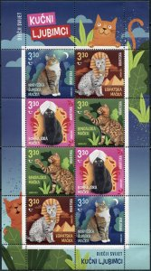 Croatia 2021. Cats (MNH OG) Miniature Sheet