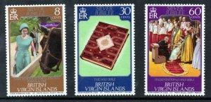 VIRGIN ISLANDS Queen Elizabeth II Silver Jubilee Full Set SG 364 to SG 366 MNH