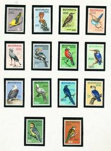 BOTSWANA - # 19-32  - VFMNH complete set - Birds topical - 1967