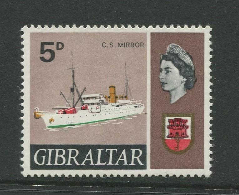 Gibraltar - Scott 191A - QEII Definitive Issue -1967- MNH - Single 5d Stamp