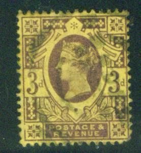 Great Britain Scott 115 1887 Queen Victoia CV$3.75