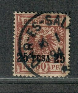 German East Africa Sc#5a Used, Surcharge 17 1/2 mm, Cv. $42.50