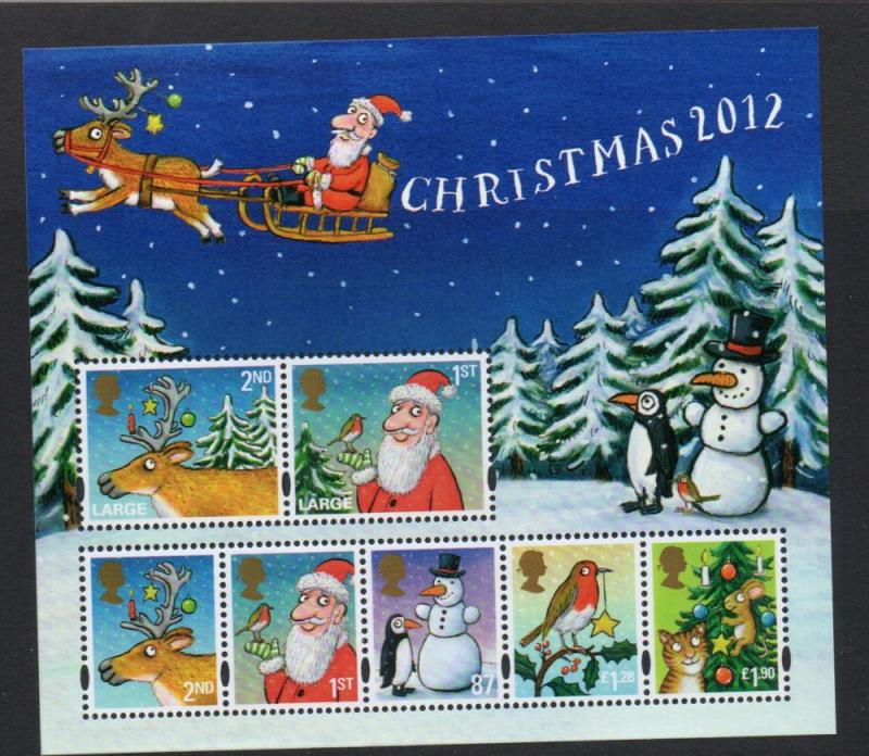 Great Britain Sc 3119 2012 Christmas stamp sheet mint NH