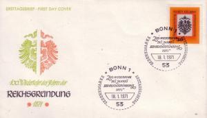 German FDC Sc.# 1052 100 yrs German Empire L382