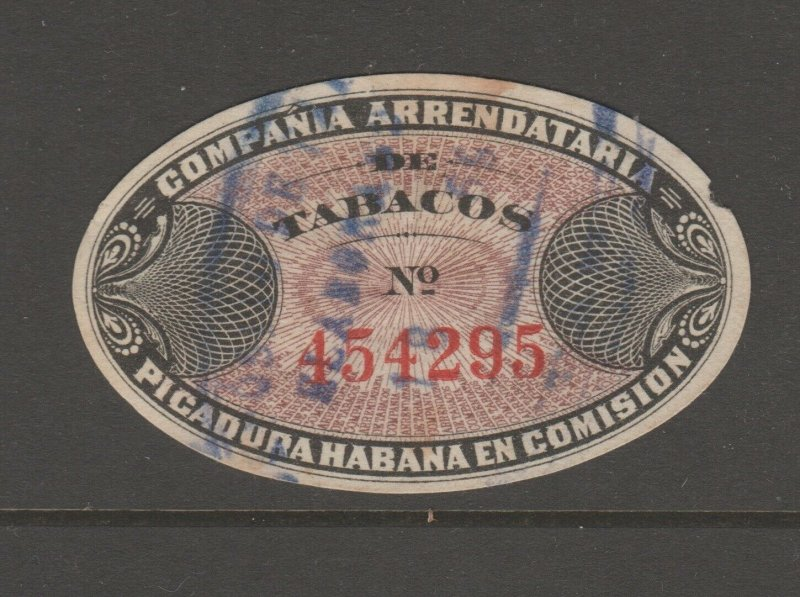 Spain Antilles revenue fiscal stamp 3-21-21 Taxpaid -Habana- scarce-2 across