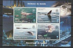 Guinea MNH S/S Marine Life