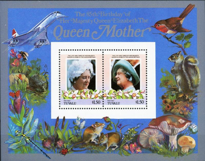 Niutao #42-43 Queen Mother 85th Birthday MNH