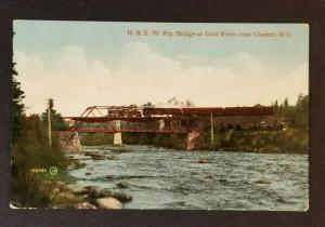 1913 Liverpool Nova Scotia to Boston H & SW Rly Bridge Picture Postcard Cover