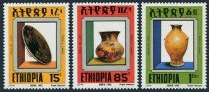 Ethiopia 1335-1337,MNH.Michel 1417-1419. Pottery 1992. Cover, Jug, Tall jar.