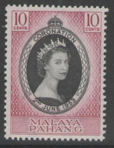 MALAYA PAHANG SG74 1953 CORONATION MNH
