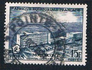 French Equatorial Africa 191 Used Brazzaville Hospital (BP8411)