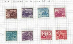 ROMANIA 1943 NATIONAL ARTILERY MM  STAMPS SET  REF 5089