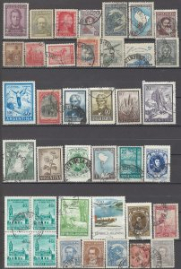 COLLECTION LOT # 1487 ARGENTINA 39 STAMPS 1899+