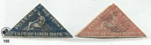 Cape of Good Hope 2 triangle forgeries