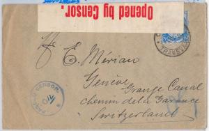 South Africa TRANSVAAL  postal history - COVER to SWITZERLAND: SA censor! 1915