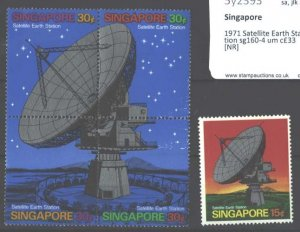 Singapore 1971 Satellite Earth Station sg160-4 unmounted mint cat £33