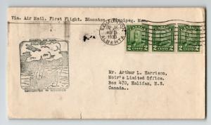 Canada 1930 FFC Edmonton to Win (Can-235ae) / Sm Tear / Coil Strip - Z12880