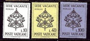 Vatican 362-64 MLH 1963 set    (ap4251)