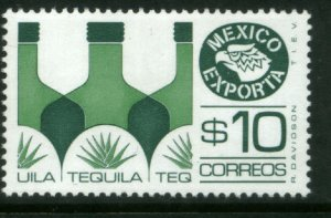 MEXICO Exporta 1125, $10P Tequila Fluor Paper 6. MINT, NH. VF.
