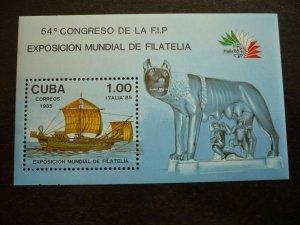 Stamps - Cuba - Scott# 2809 - Souvenir Sheet